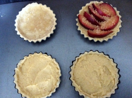 plum and grangipane tarts stage 3