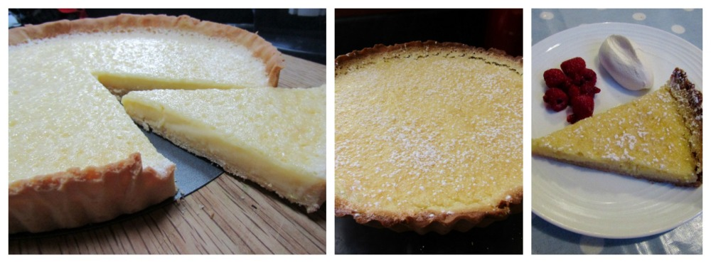 lemon tart Collage
