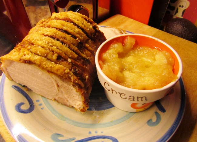 Roast Pork and Crackling with Apple Sauce