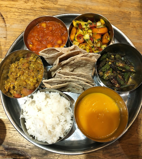 The finisged Indian Thali selection from our Jamie Oliver's class