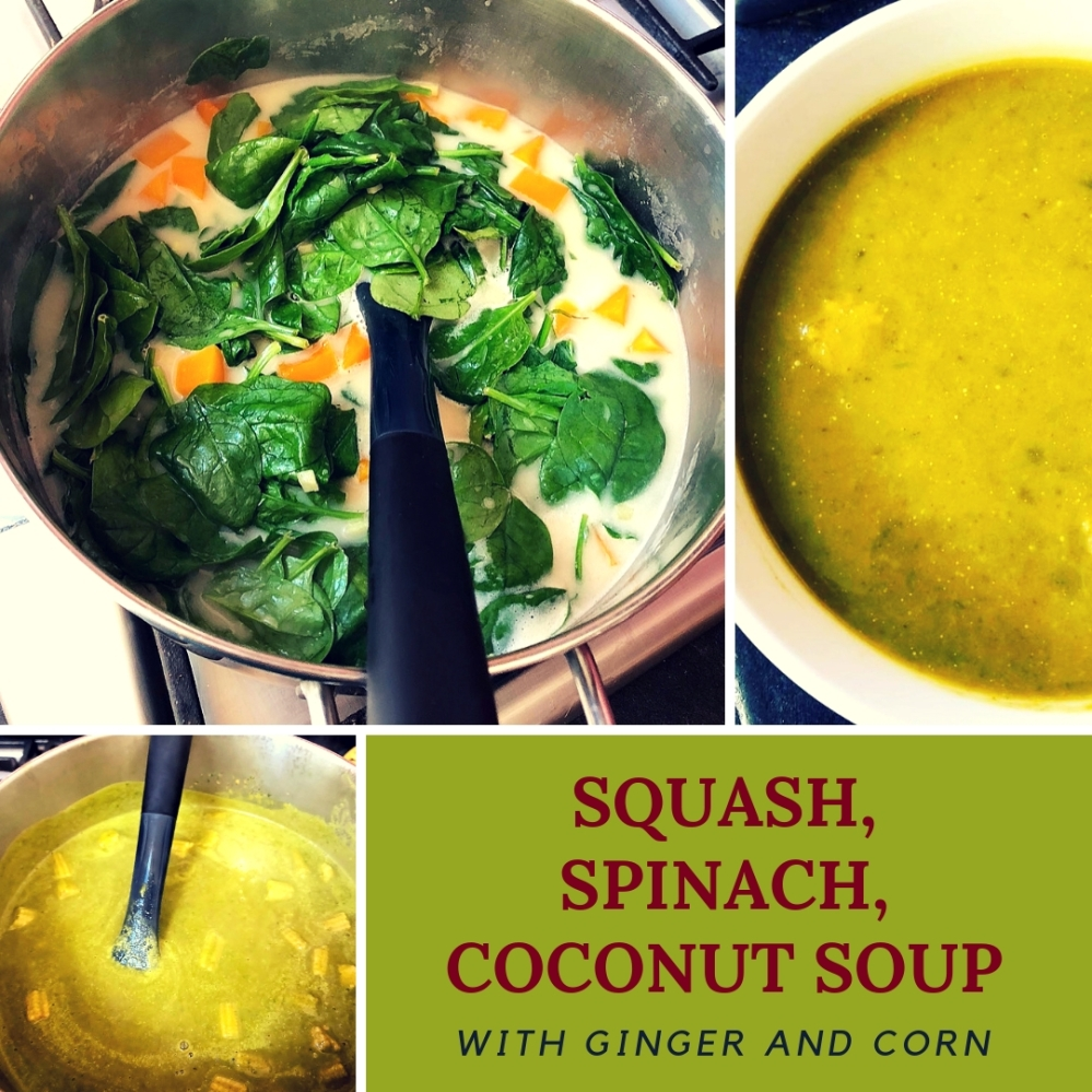 Squash, Spinach and Coconut Soup